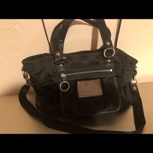 Coach poppy style black purse